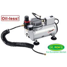 1/8 HP Oiless Airbrush Compressor (AS18M)